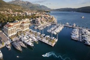 Aerial view Regent Porto Montenegro Tivat