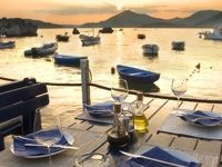 Al fresco dining in Montenegro