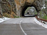 Durmitor road through the mountains