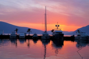 Porto Montenegro at sunset
