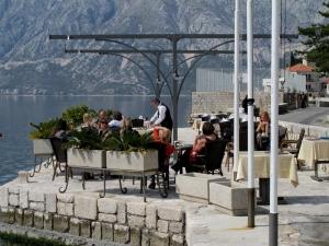 Terrace at Perast in Kotor Bay