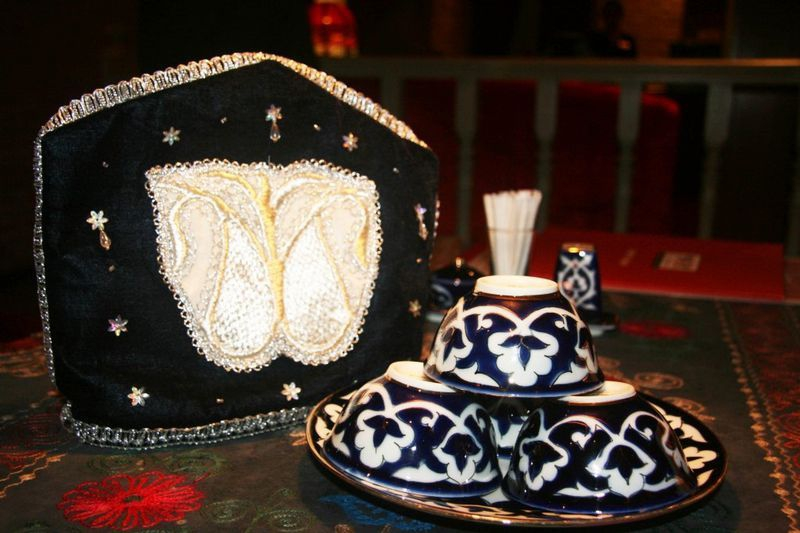 Traditional Uzbek design at Uruk Café (Credit: Alex Plim)