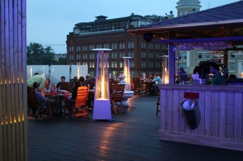 At Gipsy disco bar veranda