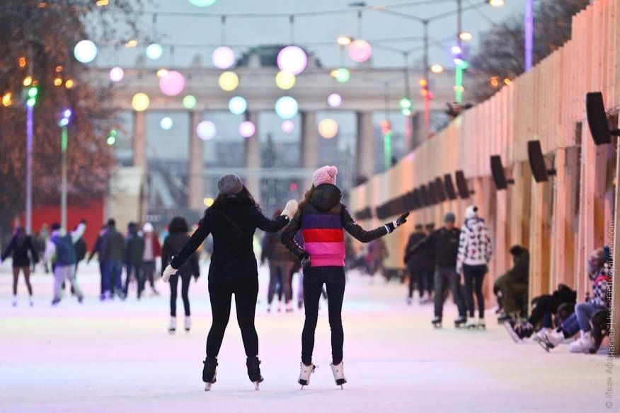 Skating rink in Gorky Park