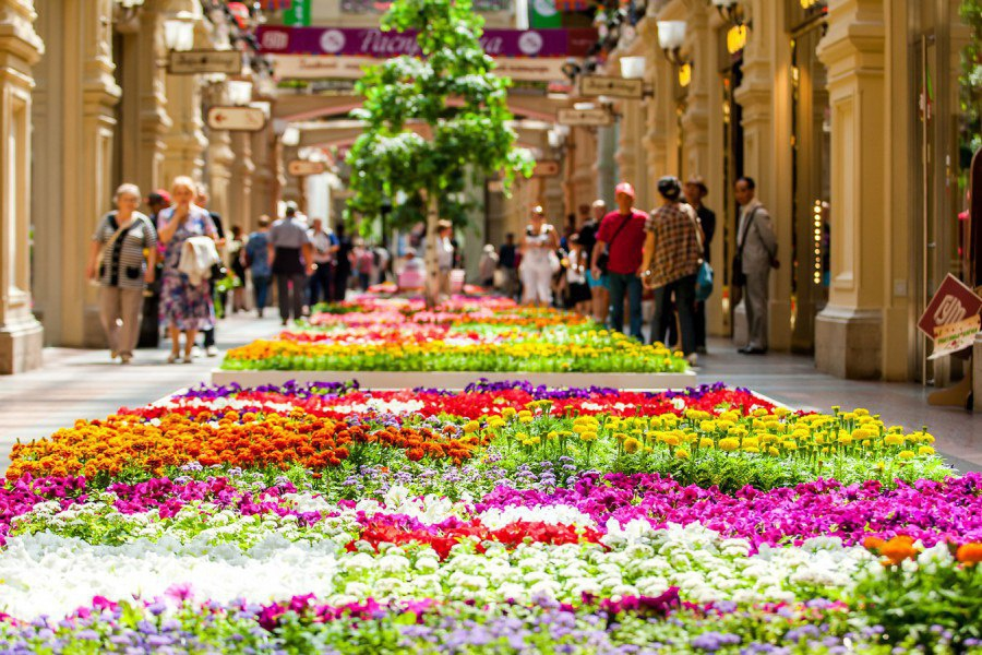 Flowers Fest at GUM (State Department Store)