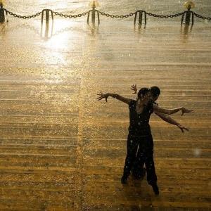 Dancing in the rain near Gorky Park