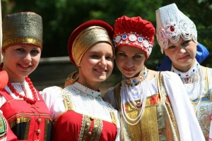 Girls in Traditional Russian Costumes