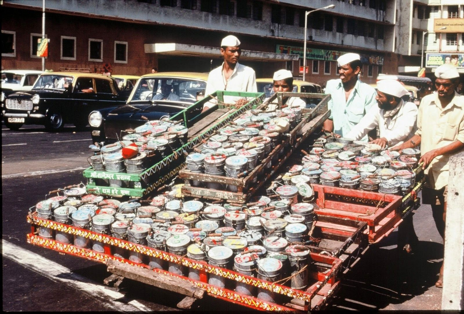Dabbawala services - so many containers!