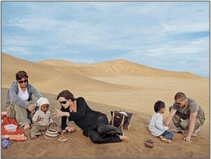 Angilina and co in the dunes