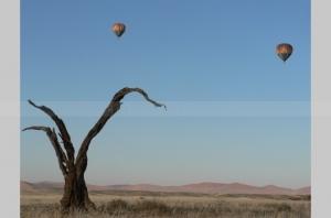 Ballooning at Sossusvlei