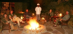 Evening fire at Hunters Namibia Safaris