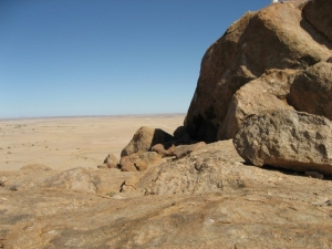 Granite rock formations in the Namib Naukluft Park