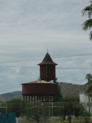 The old station tower in Karabib