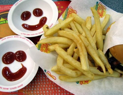 Smile! The famous ketchup smiley is sure to lift your spirits