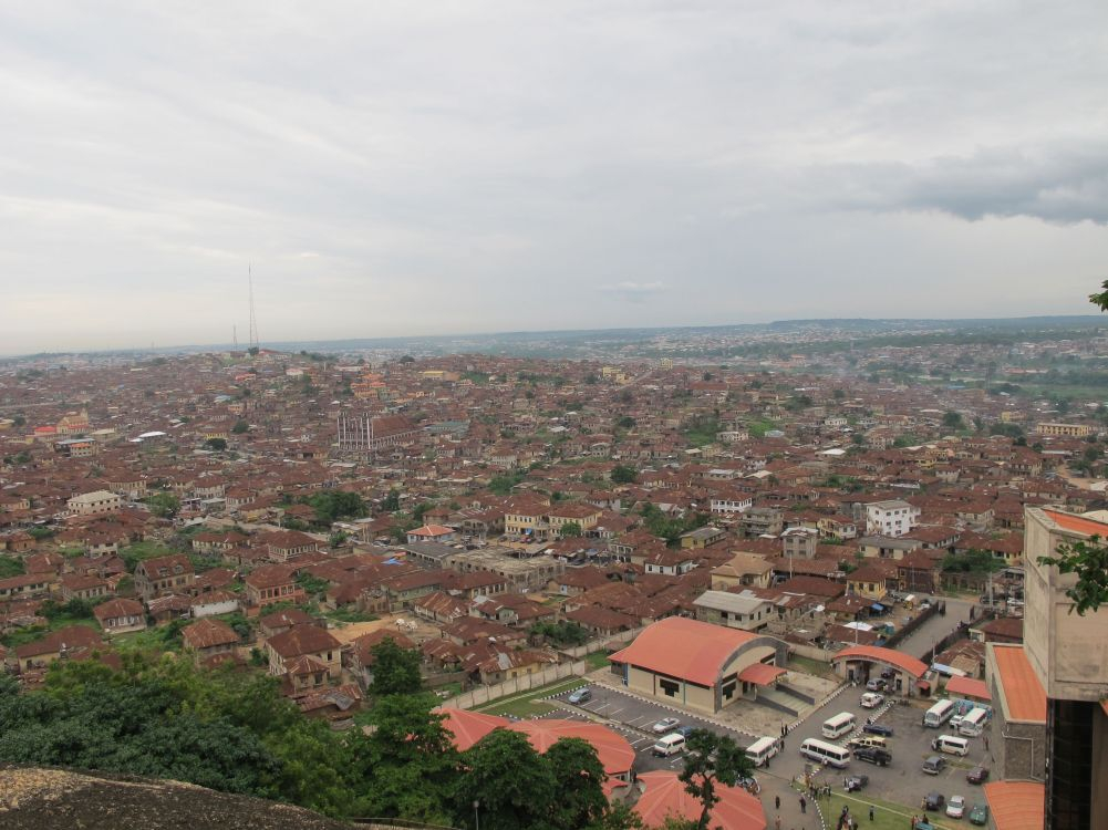A view of Abeakuta from the top of Olumo Rock