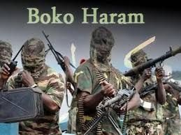 Masked faces of members of the boko haram sect