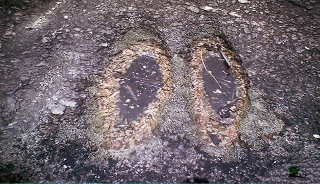 Agboogun foot prints. Photo credit: naijatrek
