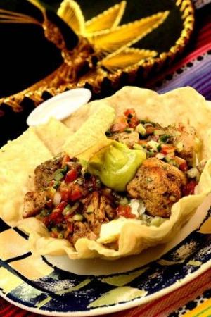 Chicken ranch taco salad