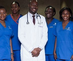 Doctors and staff