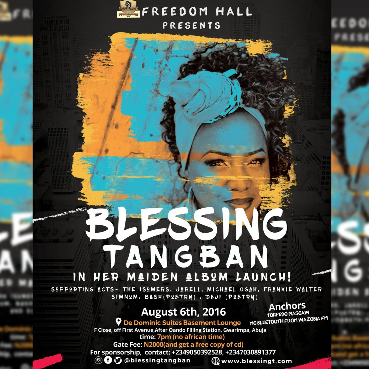"""FREEDOM HALL presents """"BLESSING TANGBAN"""" in her maiden album LAUNCH!"""