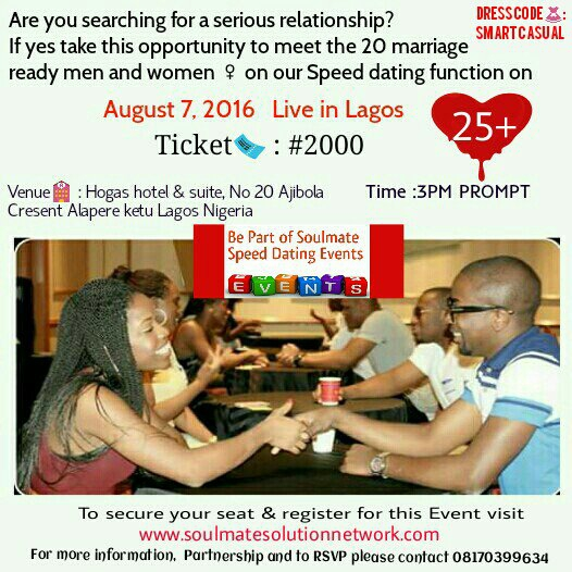 Soulmate Speed Dating Event