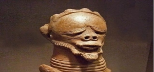 Male statue artefact in Sokoto