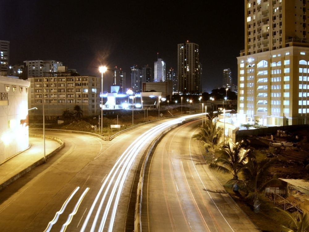 Entrance to South Corredor in Panama at Night