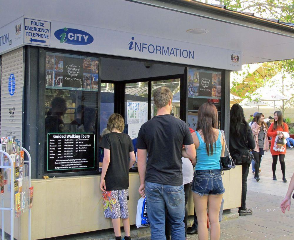 iCity Information Kiosk at Forrest Place