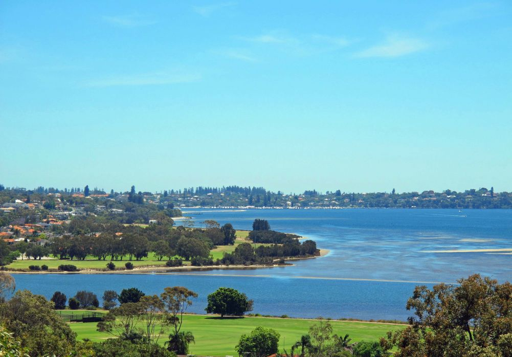 View of Swan River from Wireless Hill