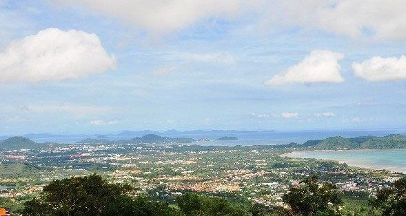 A view of the south of Phuket Island from Big Buddha