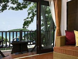 Views of the Andaman Sea from a room