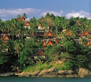 Amanpuri villas on a hillside