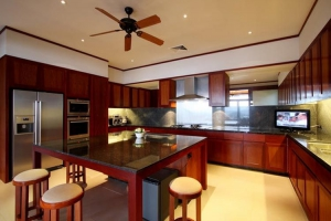 Kitchen in pool villa
