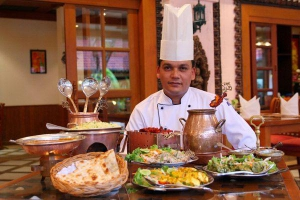 Baluchi chef with his creations