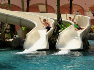 Slides at the waterpark