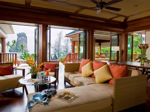 Comfortable living area with a view to the Andaman Sea