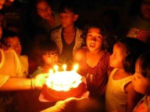 Birthday celebrations at the orphanage