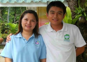 Khun Bhudit and his wife Rasa, founders of the orphanage