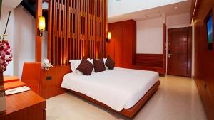 Sleeping area in a Pool Villa with Loft