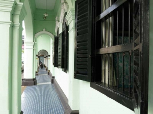 Walkway in front of Sin Portuguese houses in Old Phuket Town