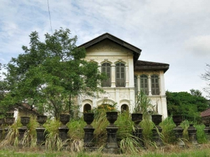 Abandoned Sino Portuguese house in Old Phuket Town
