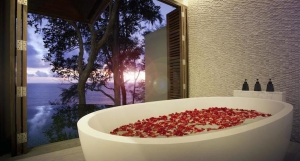 Bathtub in a suite with a view of the Andaman Sea