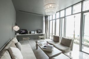 Living area of a villa