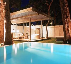 Pool & seating area at a villa