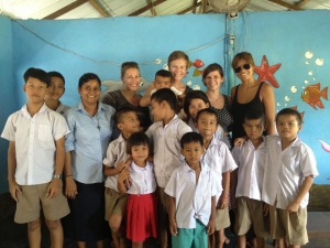 Kids and volunteers at a Good Shepherd centre