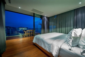 Luxurious & comfortable bedroom with a view of the Andaman Sea