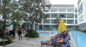 Hotel pool at the Serene Wing