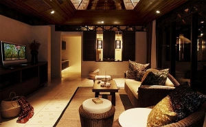 Living area at a villa