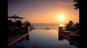 Sunset from a villa