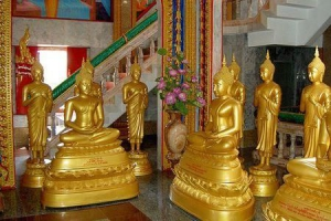 Statues at one of the temples at Wat Chalong